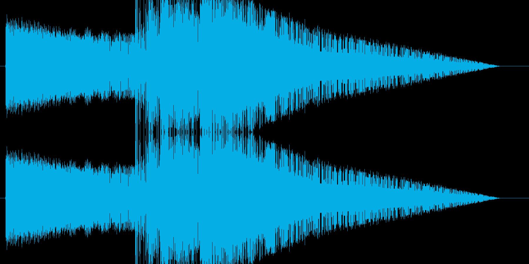 レトロゲーム風魔法雷系3の再生済みの波形