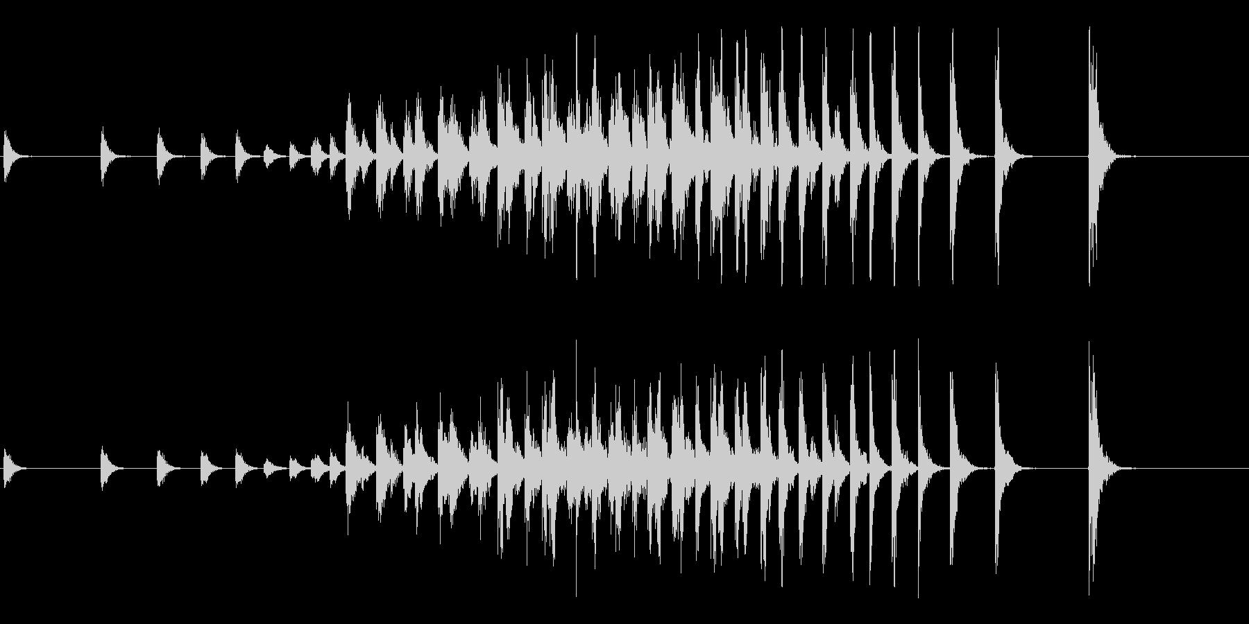 和太鼓によるオープニング等に最適な連打音の未再生の波形