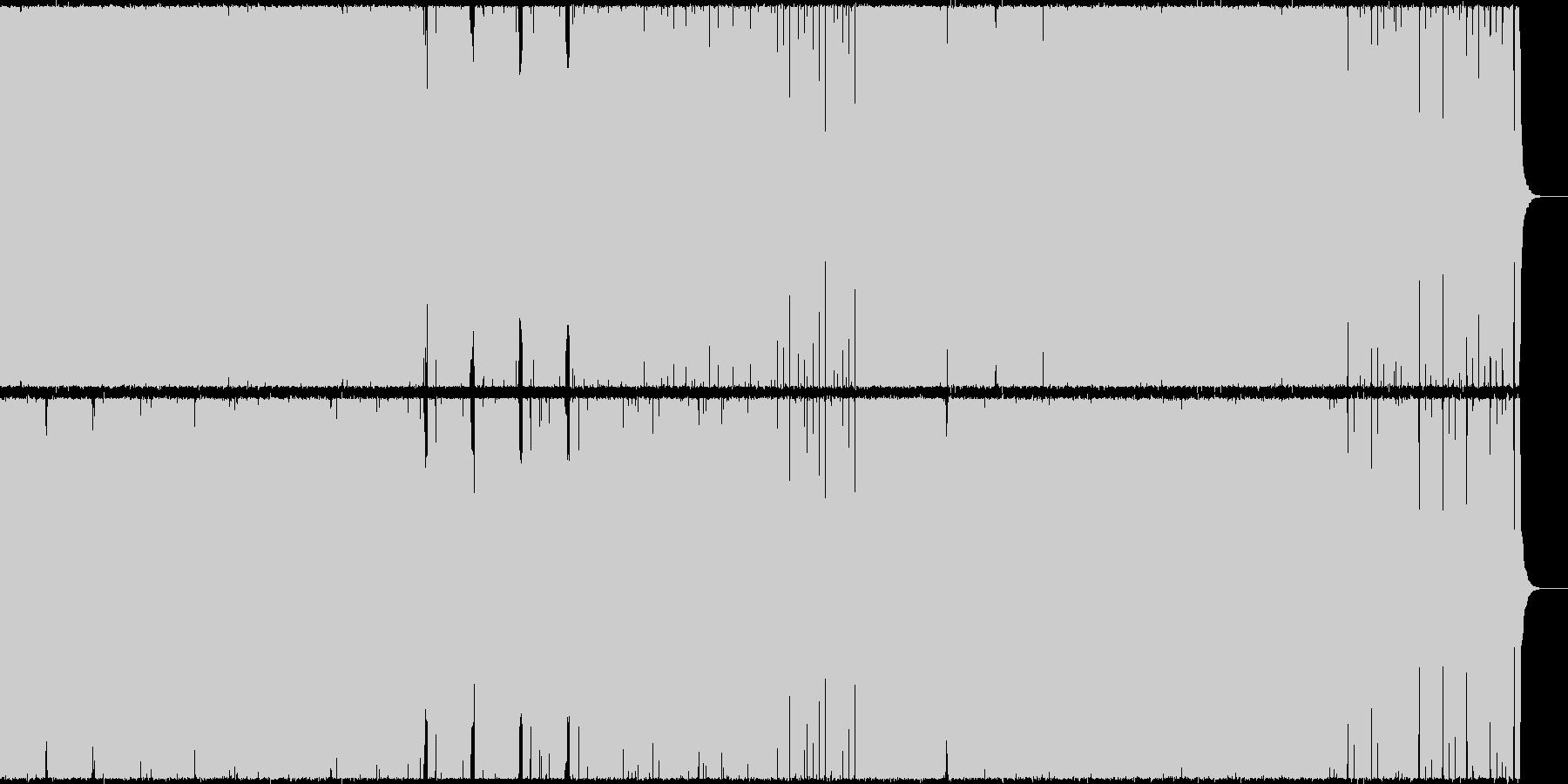 王道ダンス・ミュージック(EDM)の未再生の波形