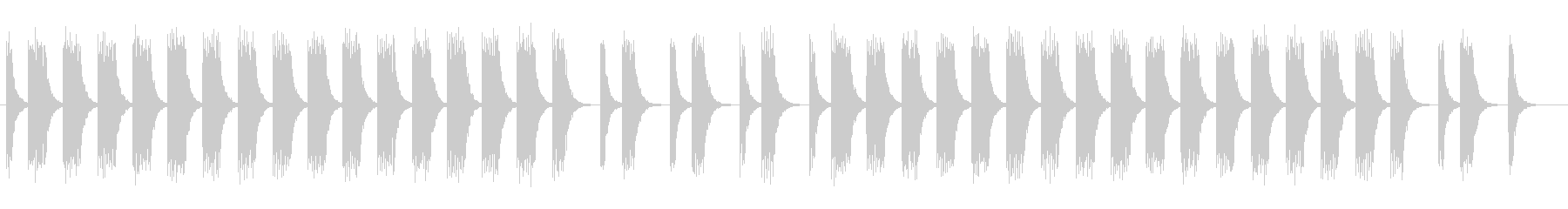低く神妙な面持ちの曲の未再生の波形