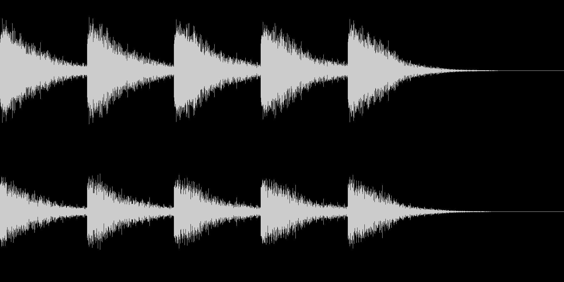 古時計っぽい音の未再生の波形