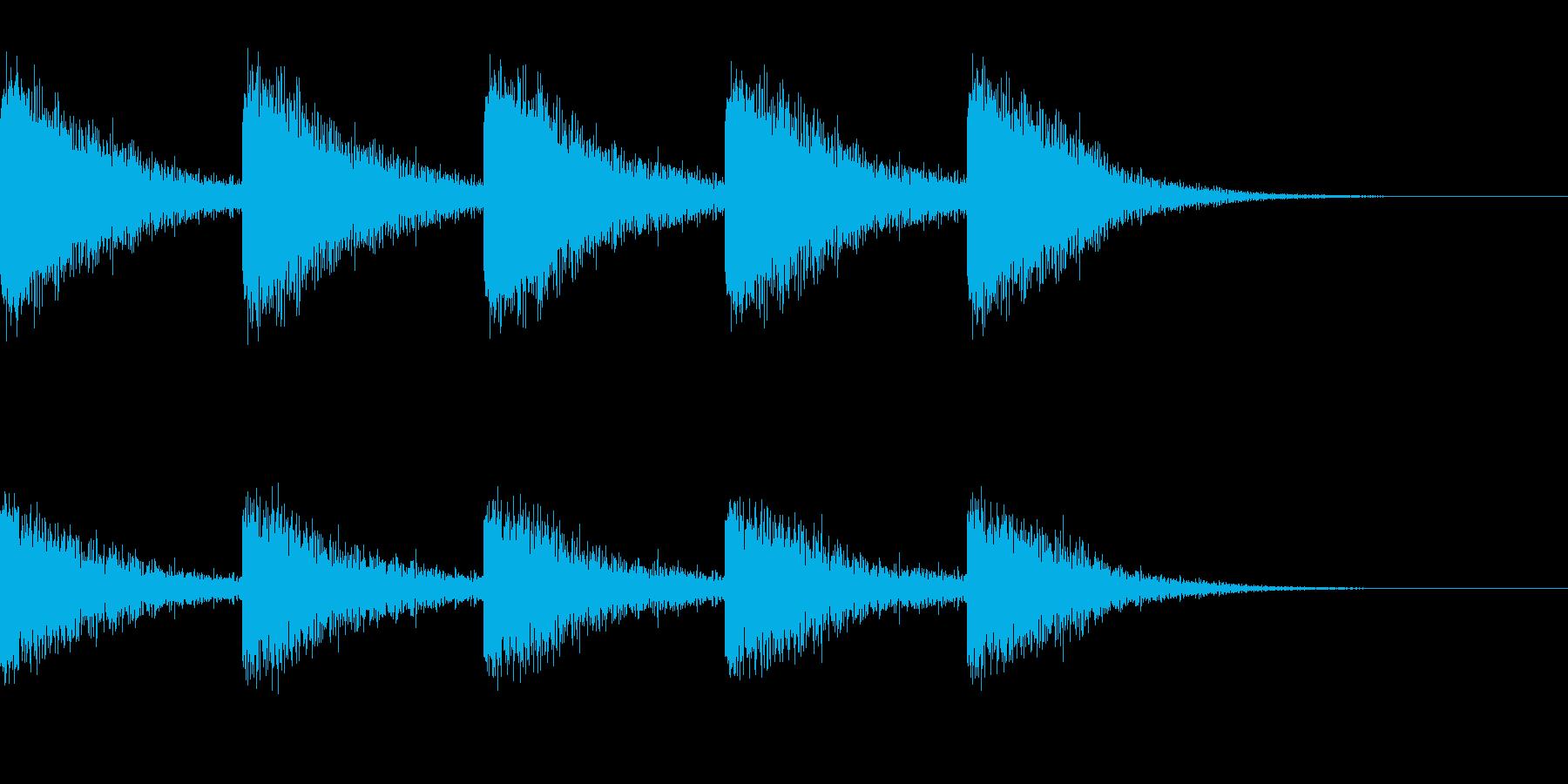 古時計っぽい音の再生済みの波形
