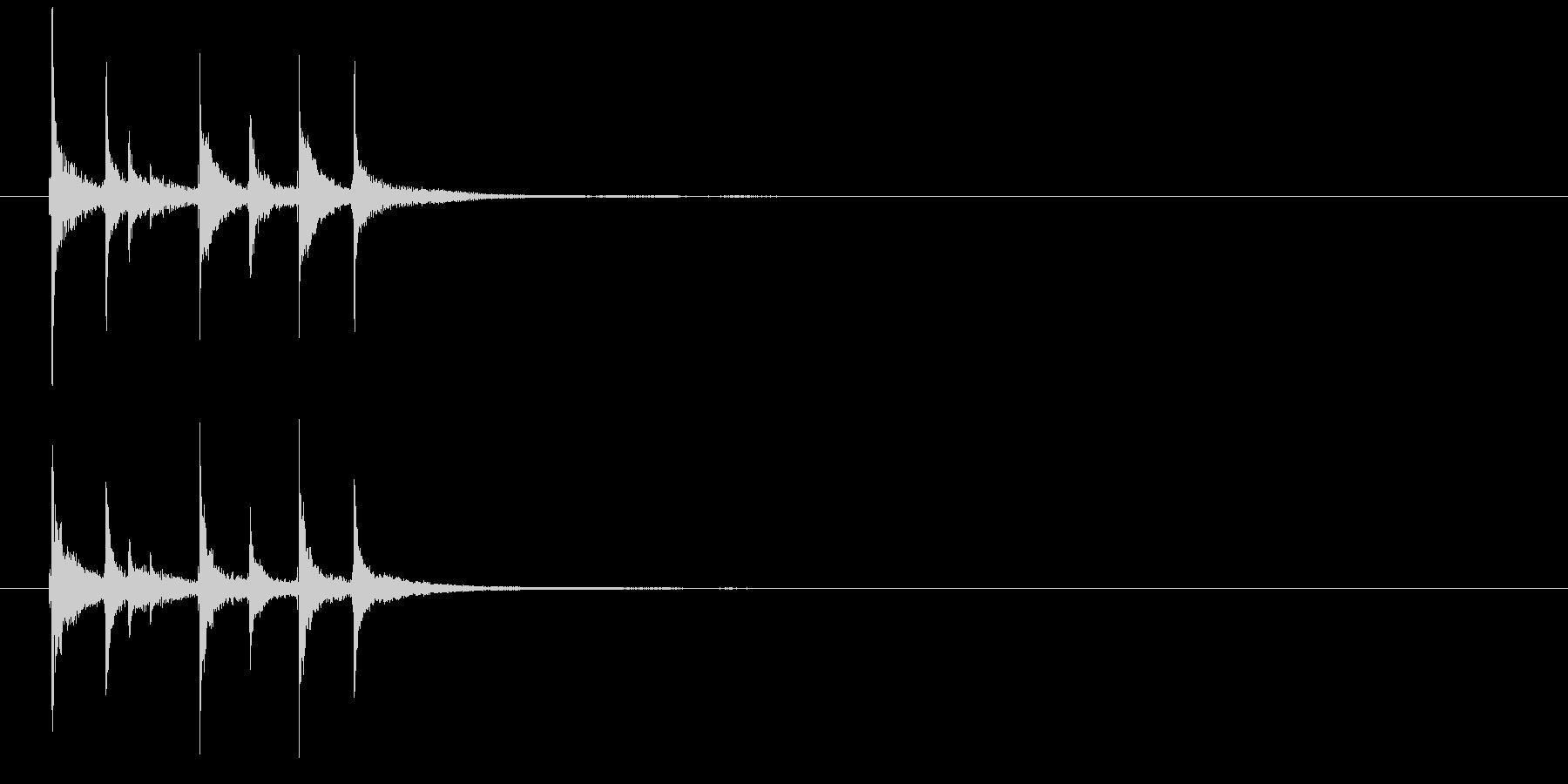 和の素材_三味線の短いフレーズ3の未再生の波形