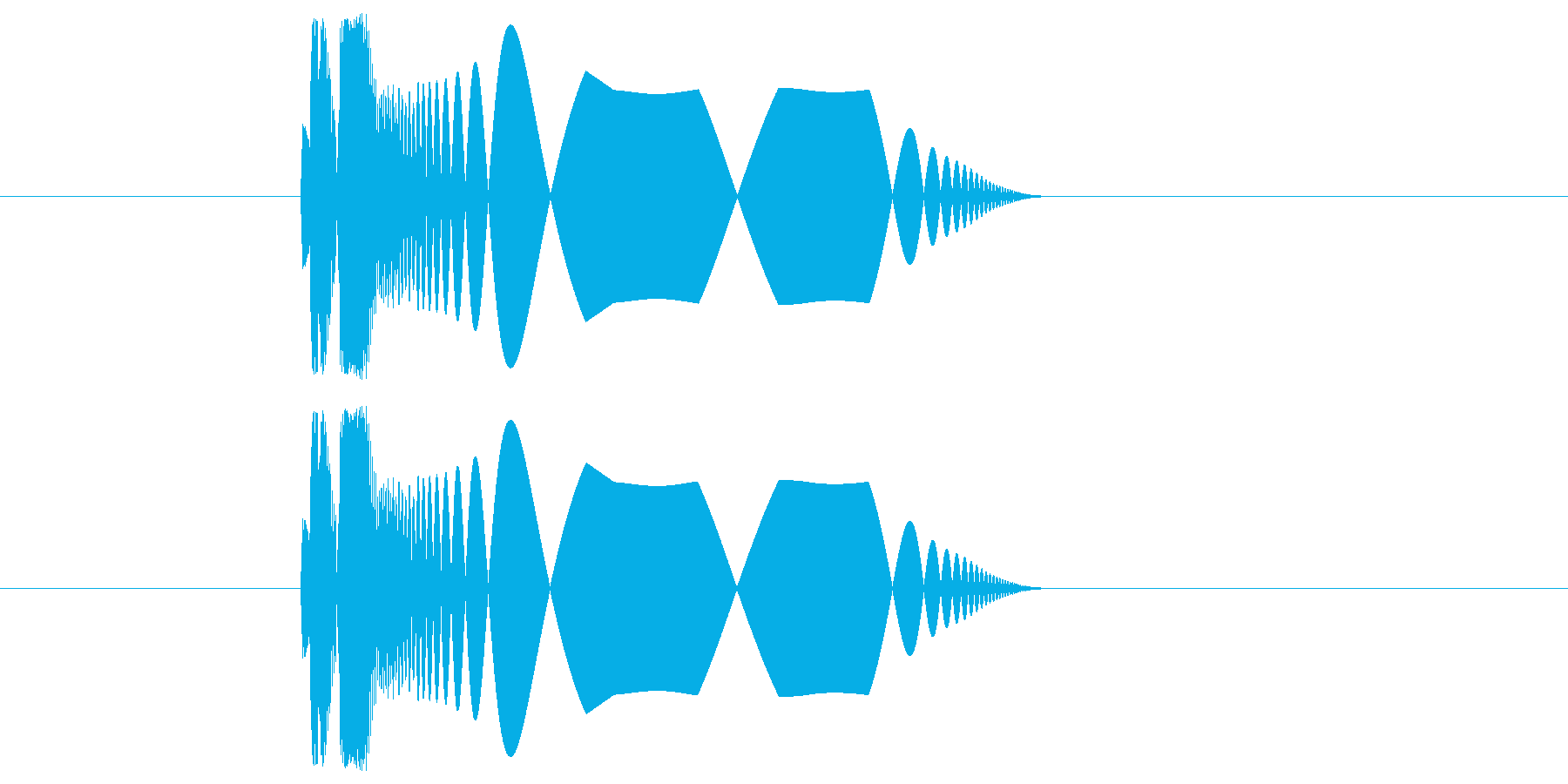 プチュ!【やわらかい音】の再生済みの波形