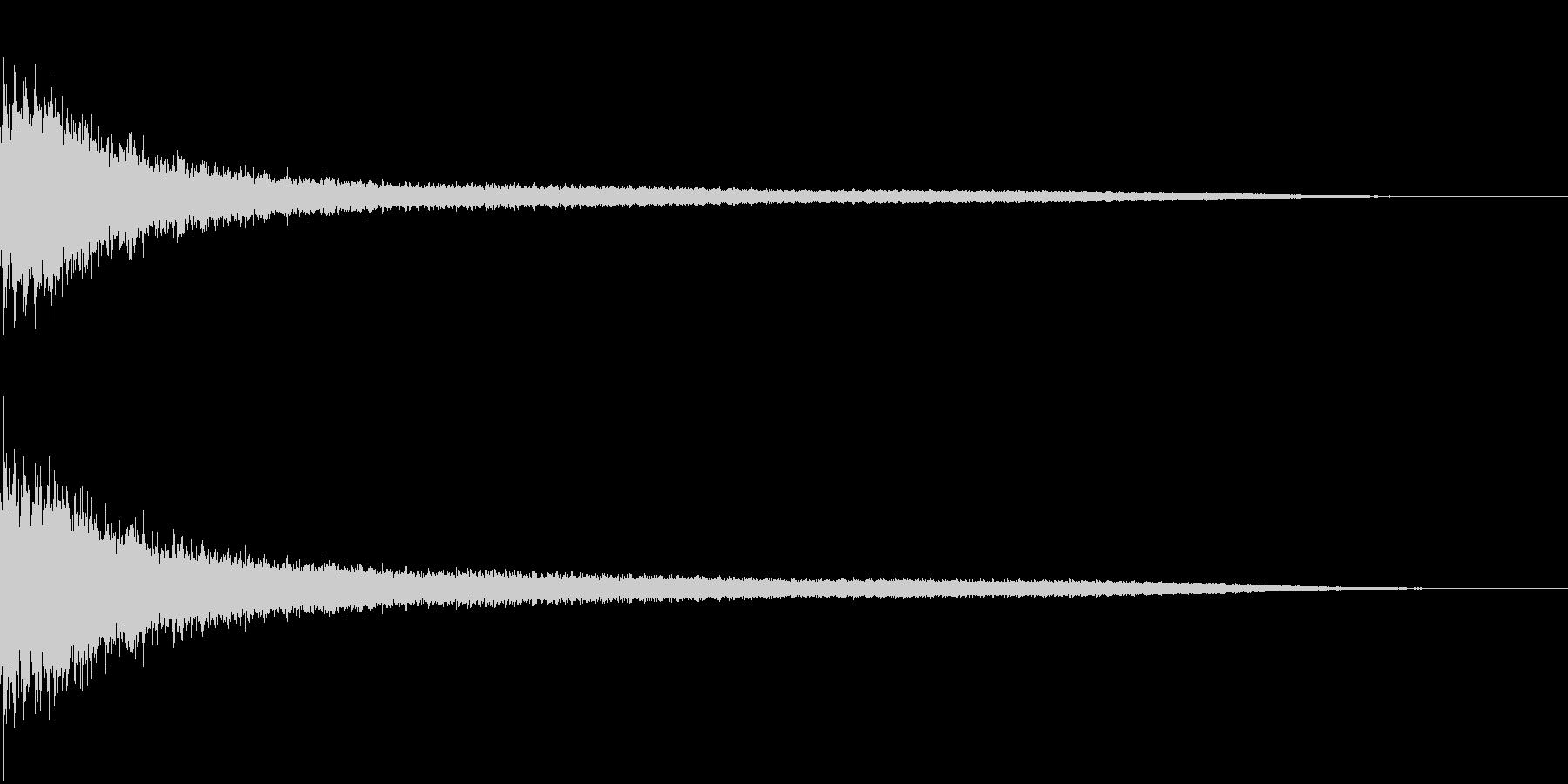 ジャーン(銅鑼の音):中国のイメージの未再生の波形