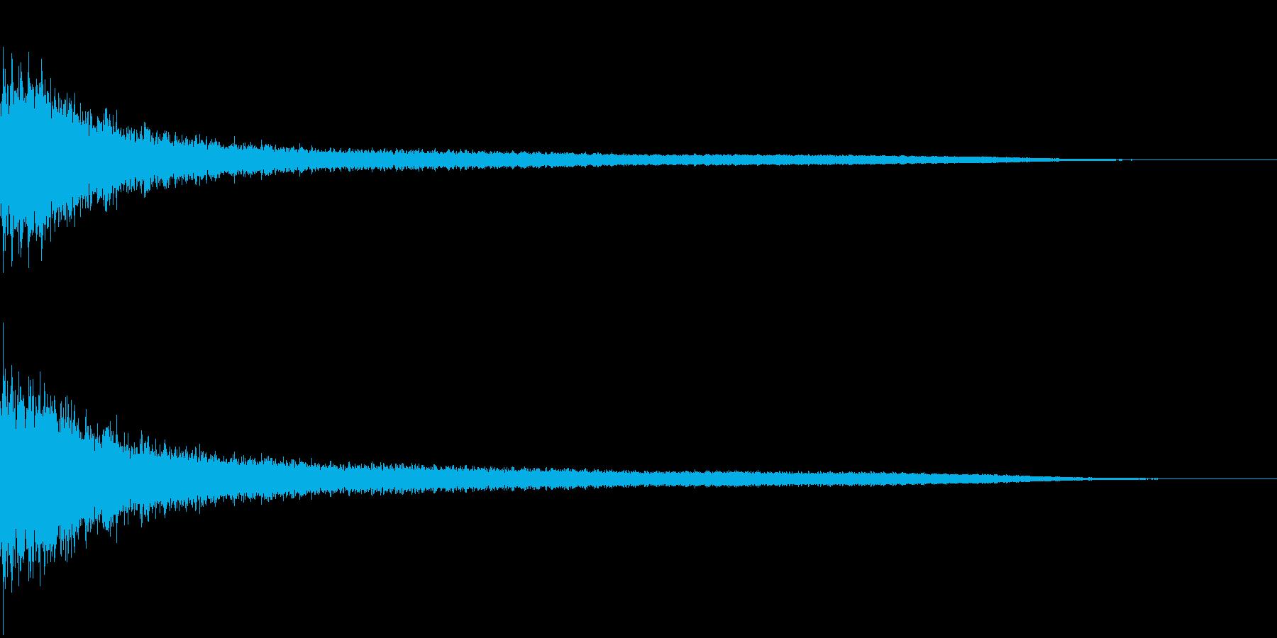 ジャーン(銅鑼の音):中国のイメージの再生済みの波形