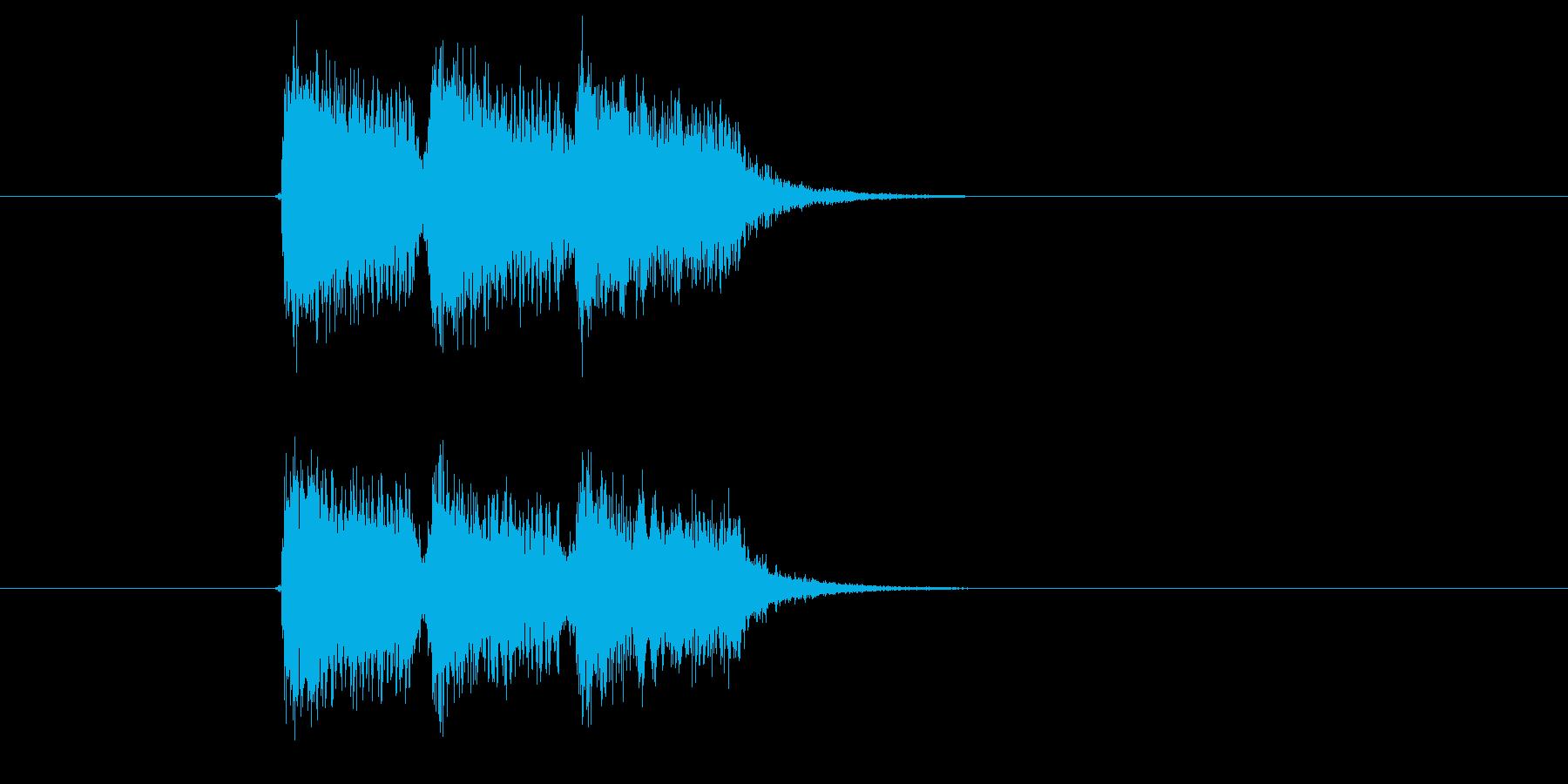ジャジャジャーン!と聞こえる効果音の再生済みの波形