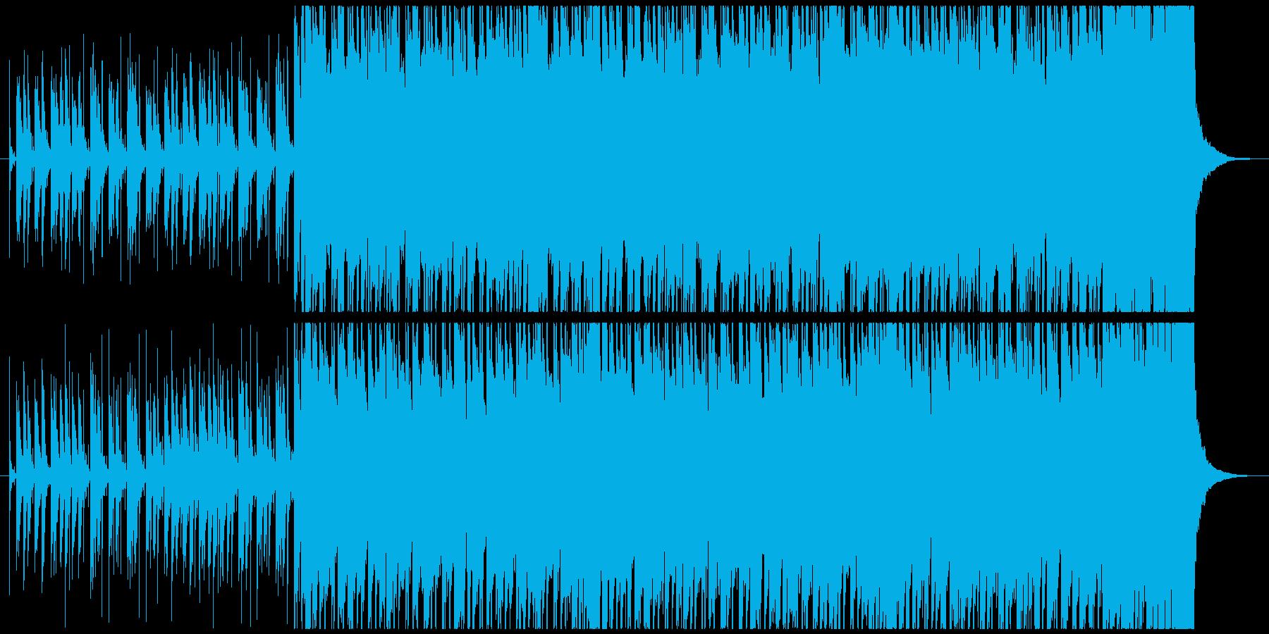 山奥の村の祭りをイメージした民族音楽の再生済みの波形