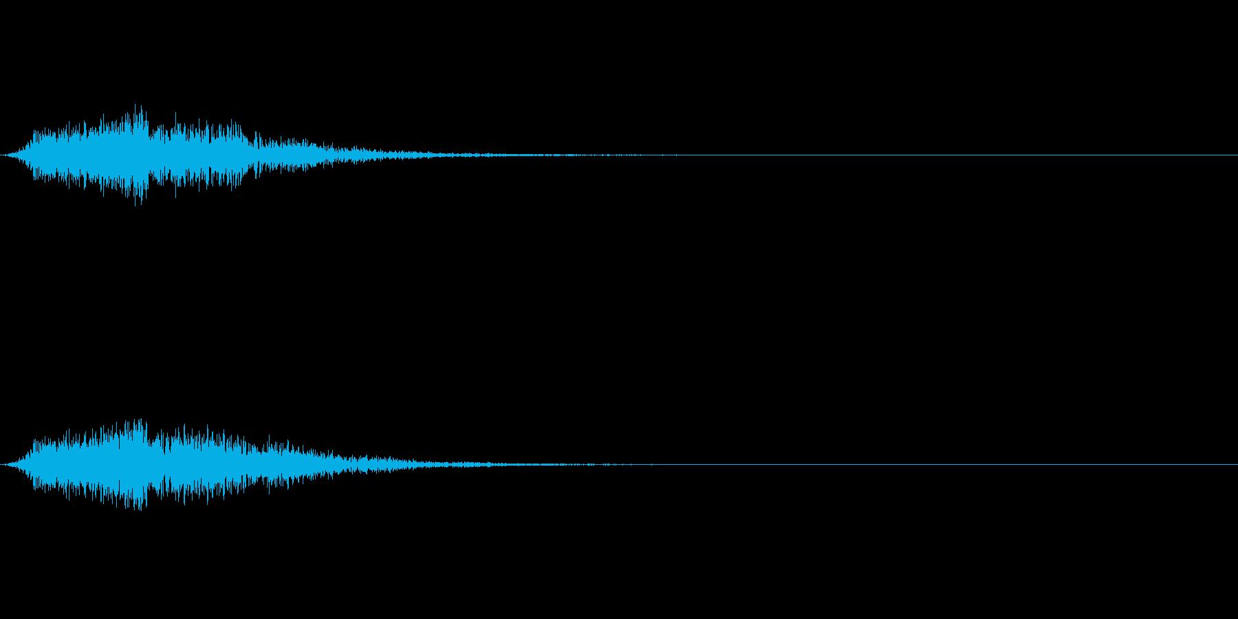 ダイアログ閉じる_01シューワッの再生済みの波形