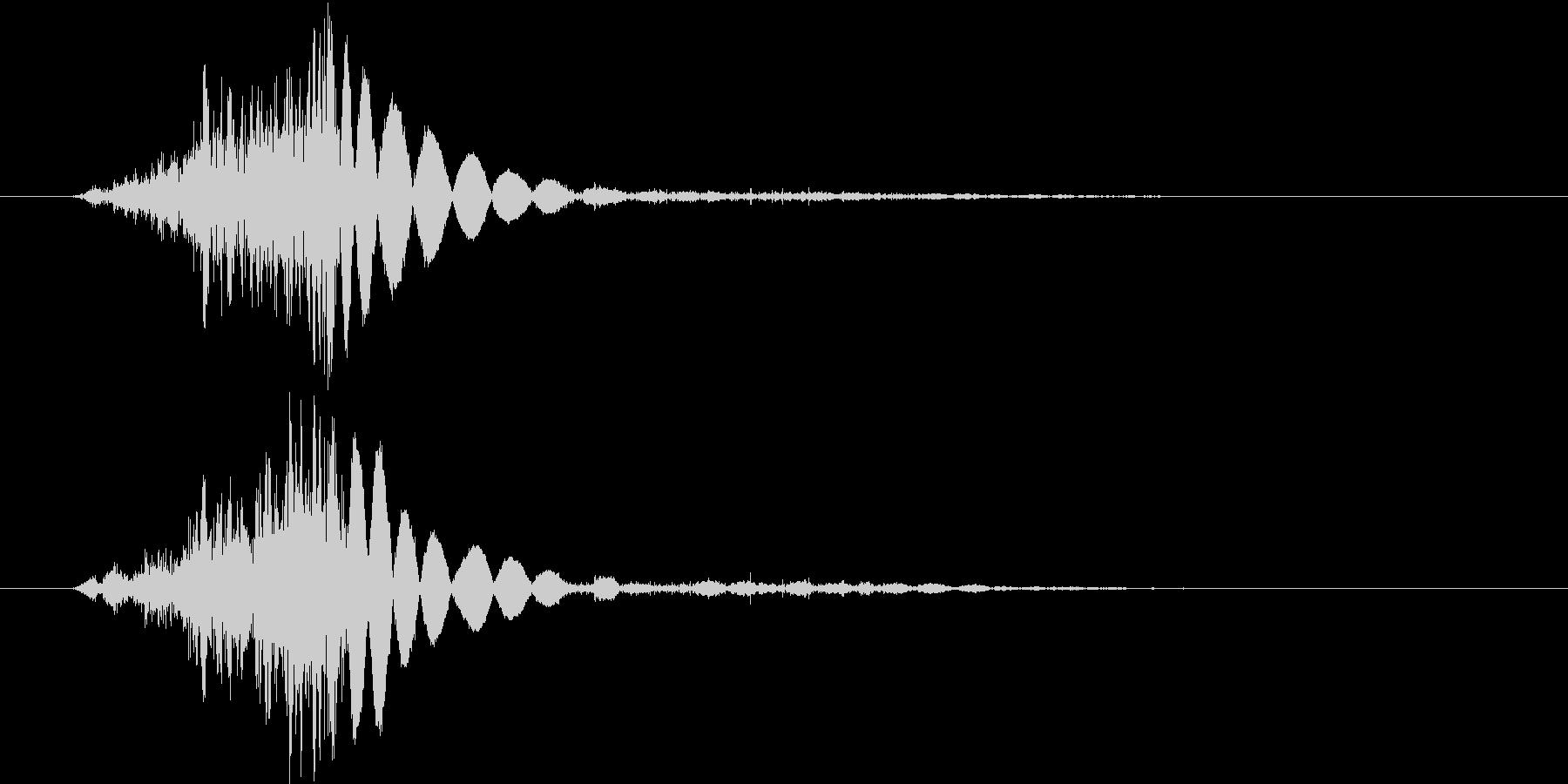 ロープを結ぶ音。の未再生の波形
