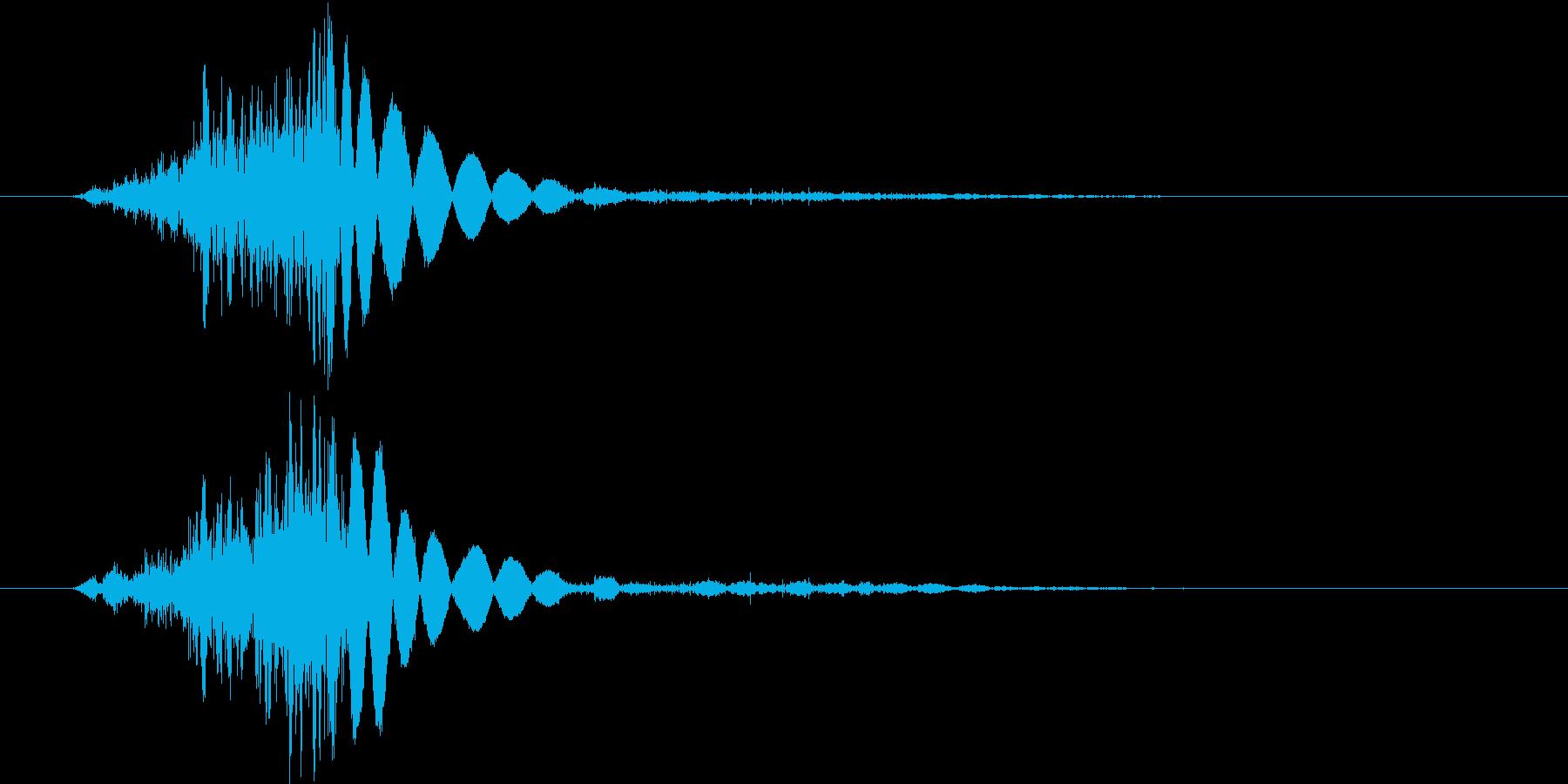 ロープを結ぶ音。の再生済みの波形