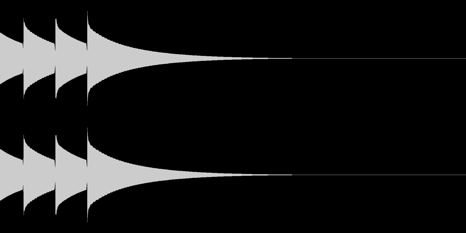 キラキラ(星/通知音/アイテム/2回)の未再生の波形