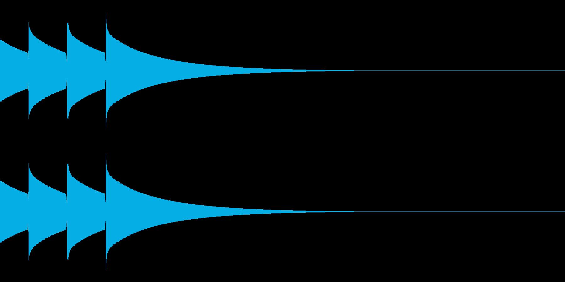 キラキラ(星/通知音/アイテム/2回)の再生済みの波形
