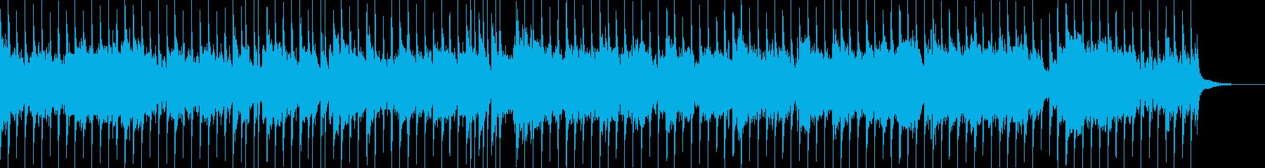 切なさと激しさのあるオーケストラ楽曲の再生済みの波形