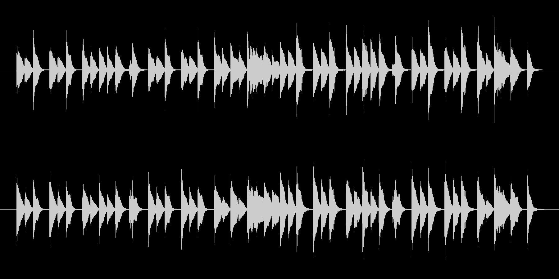 ナレーション系CMに最適軽快なピアノ曲の未再生の波形