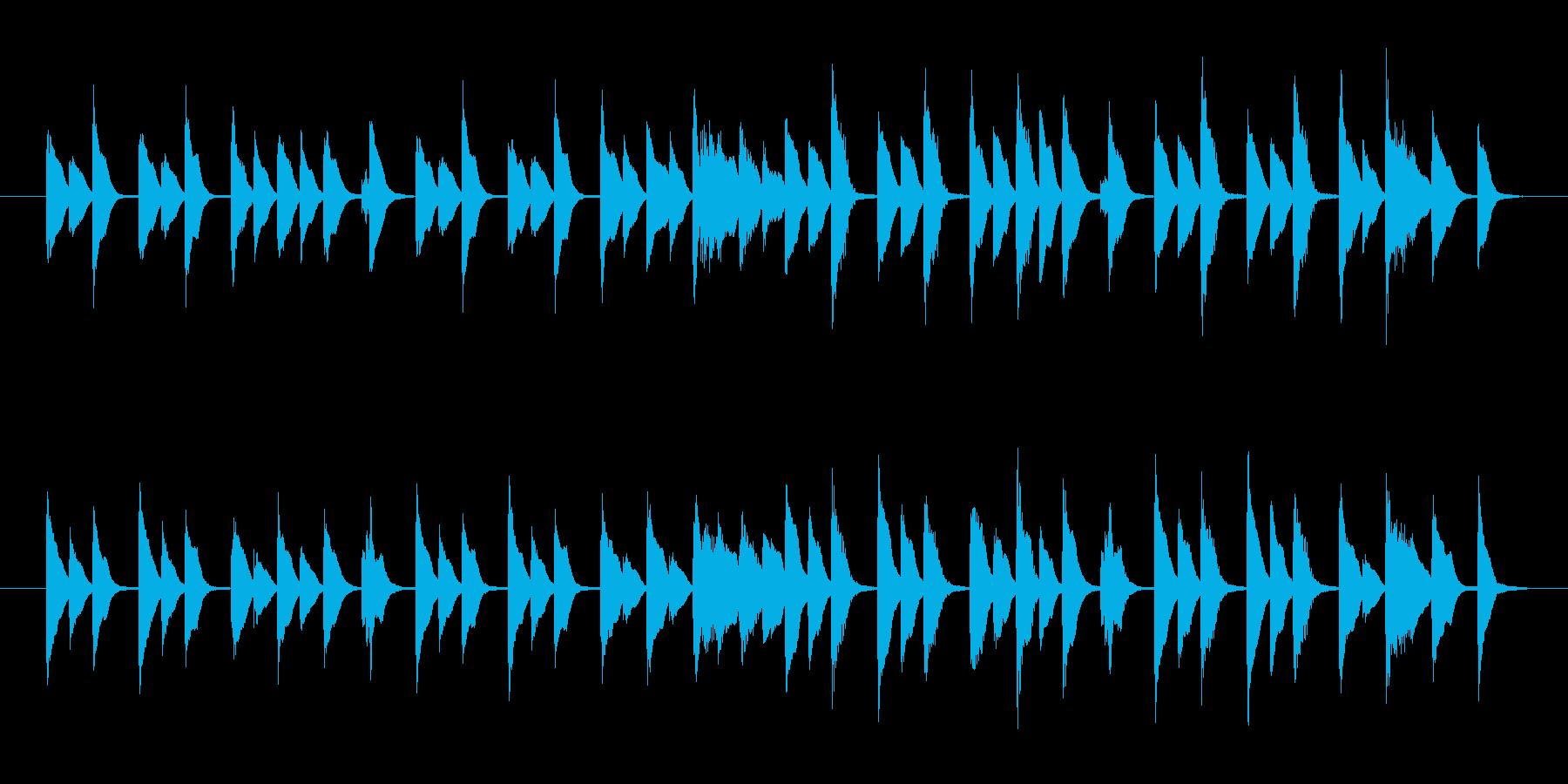 ナレーション系CMに最適軽快なピアノ曲の再生済みの波形