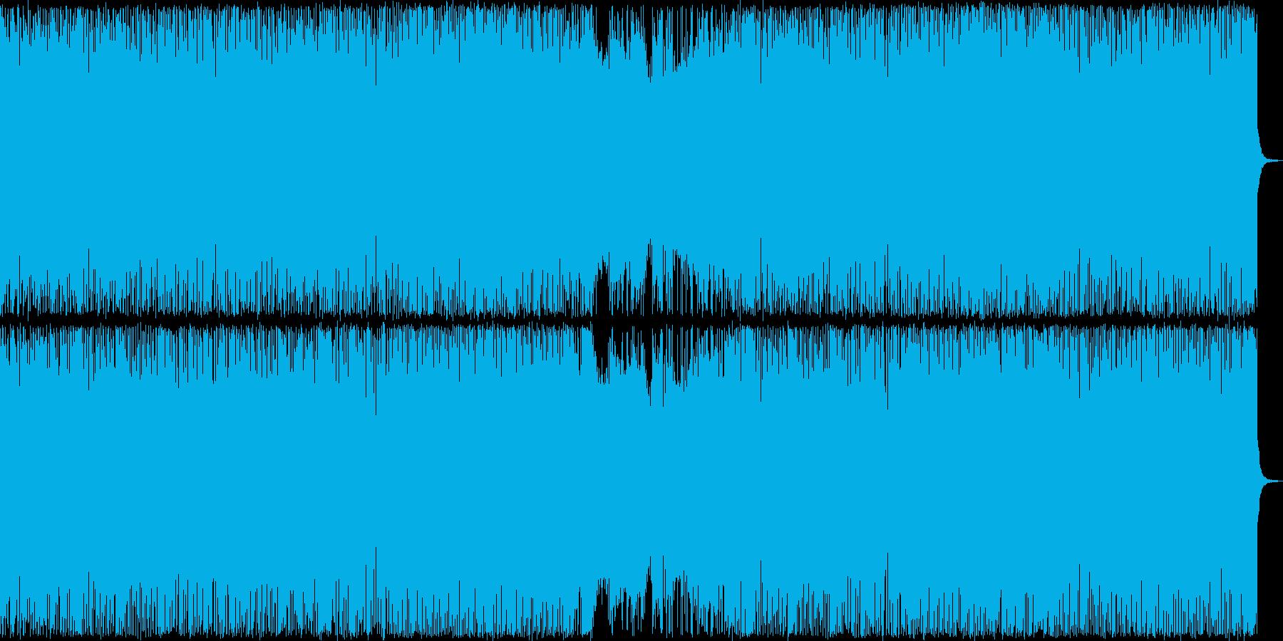 ヘビーメタル風の激しい楽曲の再生済みの波形