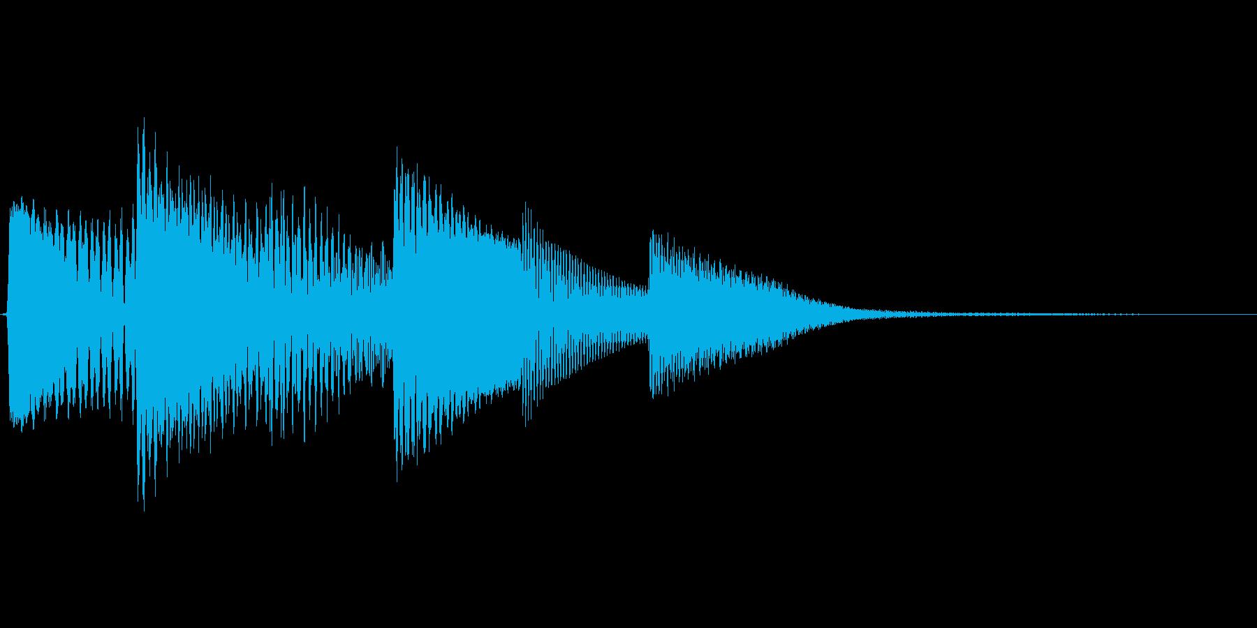 ワンコードアルペジオの決定音の再生済みの波形