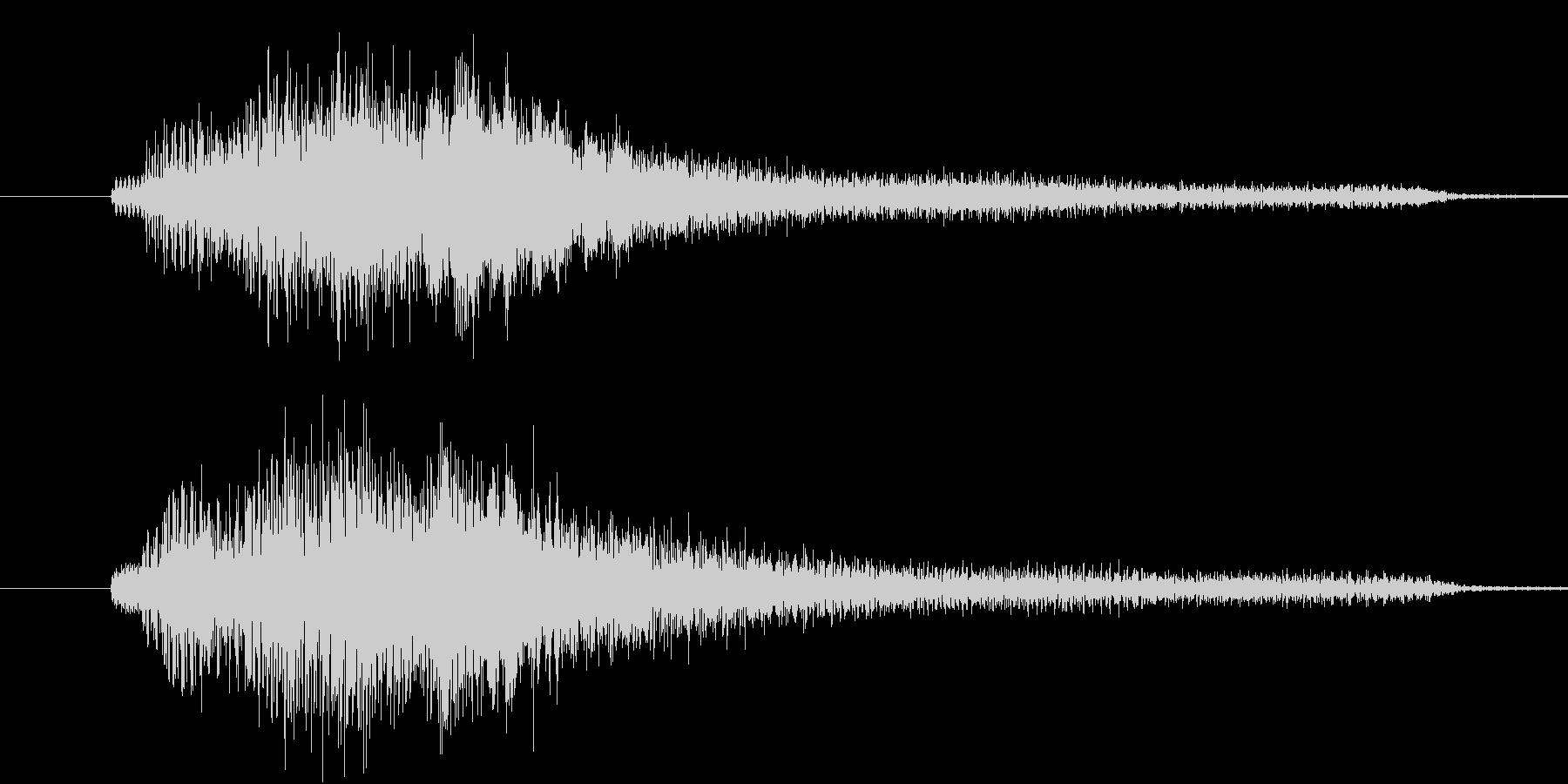 【生ピアノ】ゴージャスな分散和音の未再生の波形