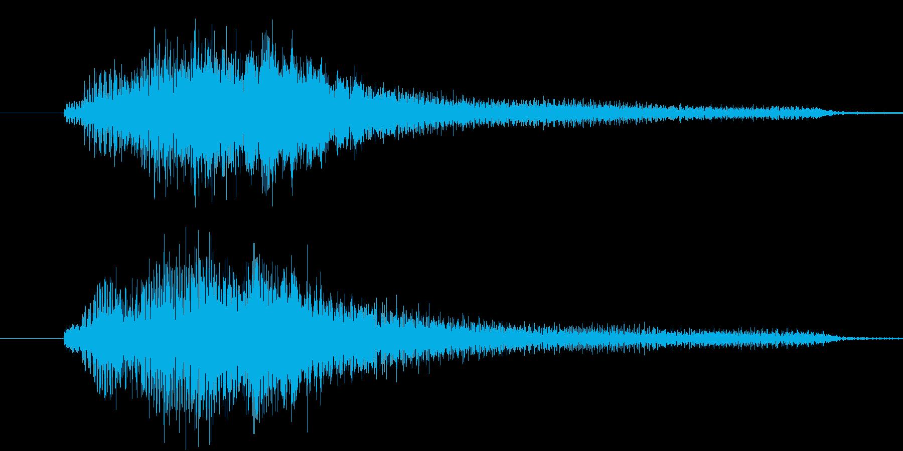 【生ピアノ】ゴージャスな分散和音の再生済みの波形