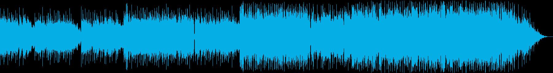 ピアノリードの軽快で温かいポップスの再生済みの波形