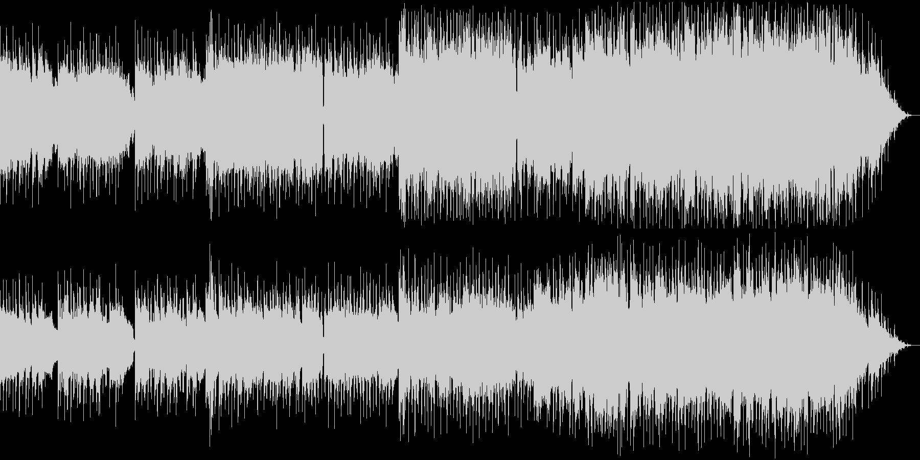 ピアノリードの軽快で温かいポップスの未再生の波形