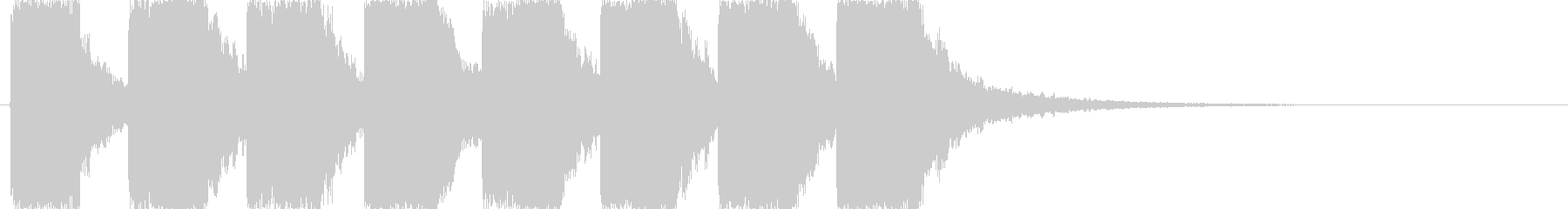 シンセによるアラーム音の未再生の波形