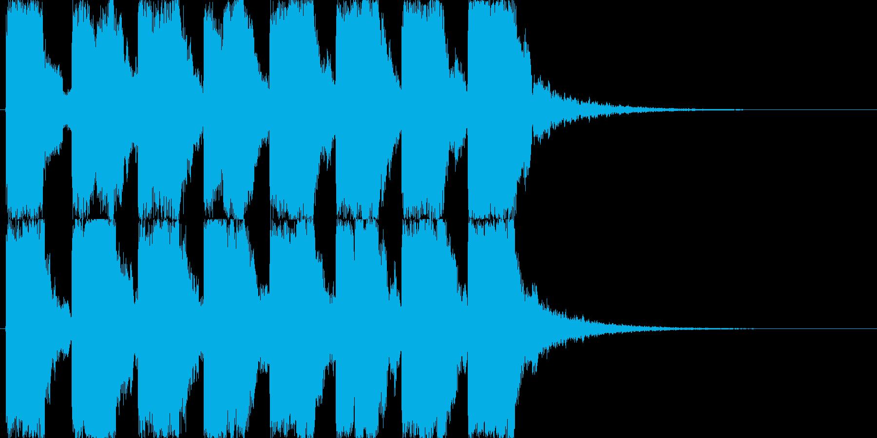 シンセによるアラーム音の再生済みの波形