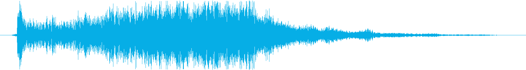 ダークな雰囲気のサウンドロゴ(ジングル)の再生済みの波形