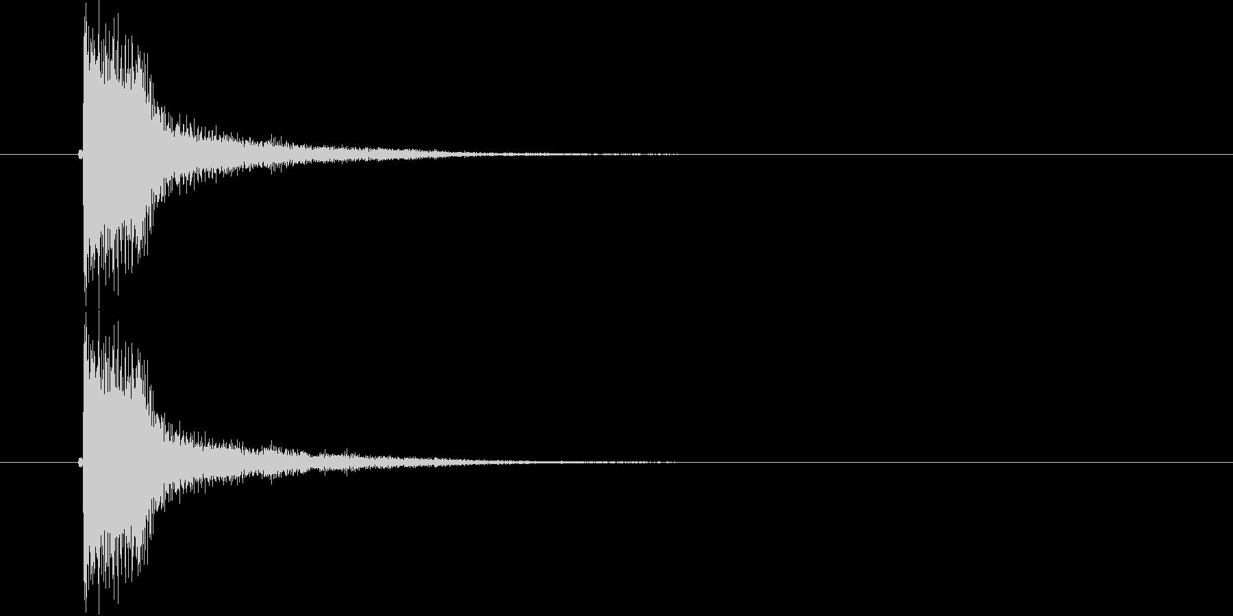 ジャン(軽快な決定音)の未再生の波形