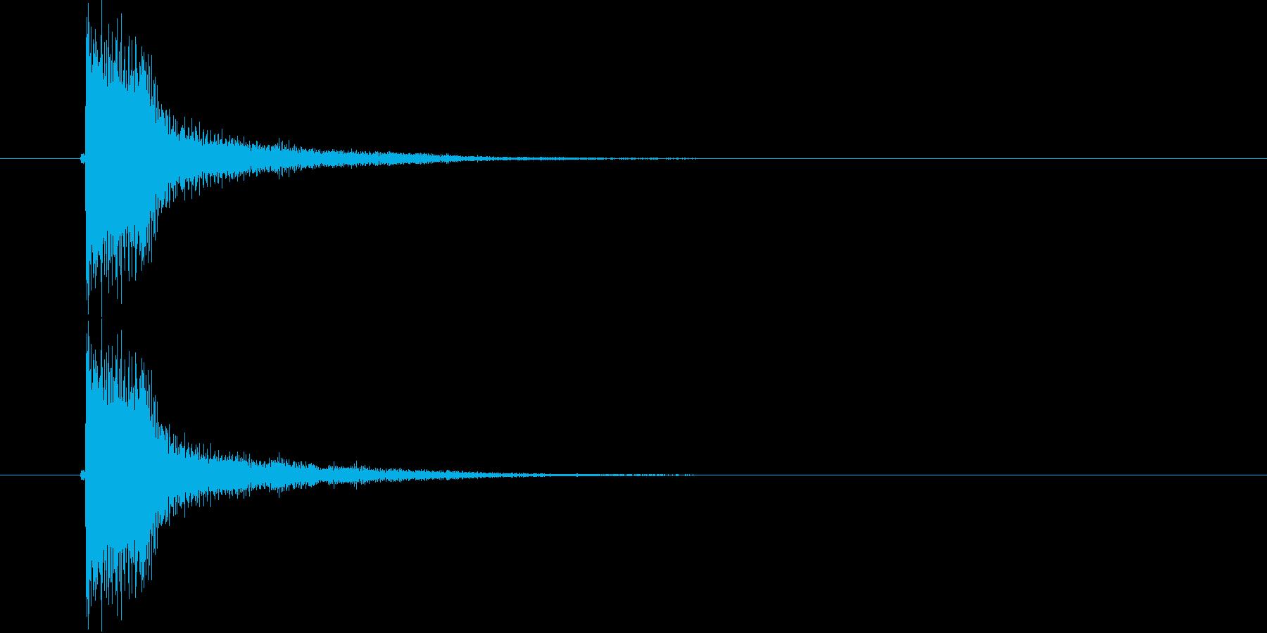 ジャン(軽快な決定音)の再生済みの波形