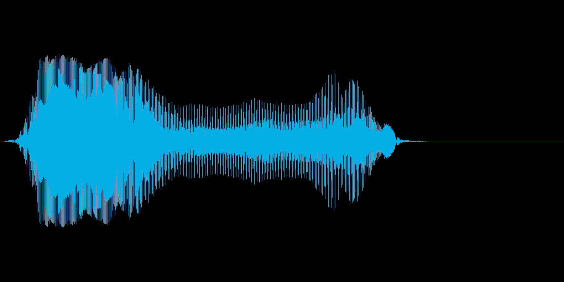 ハアーイの再生済みの波形