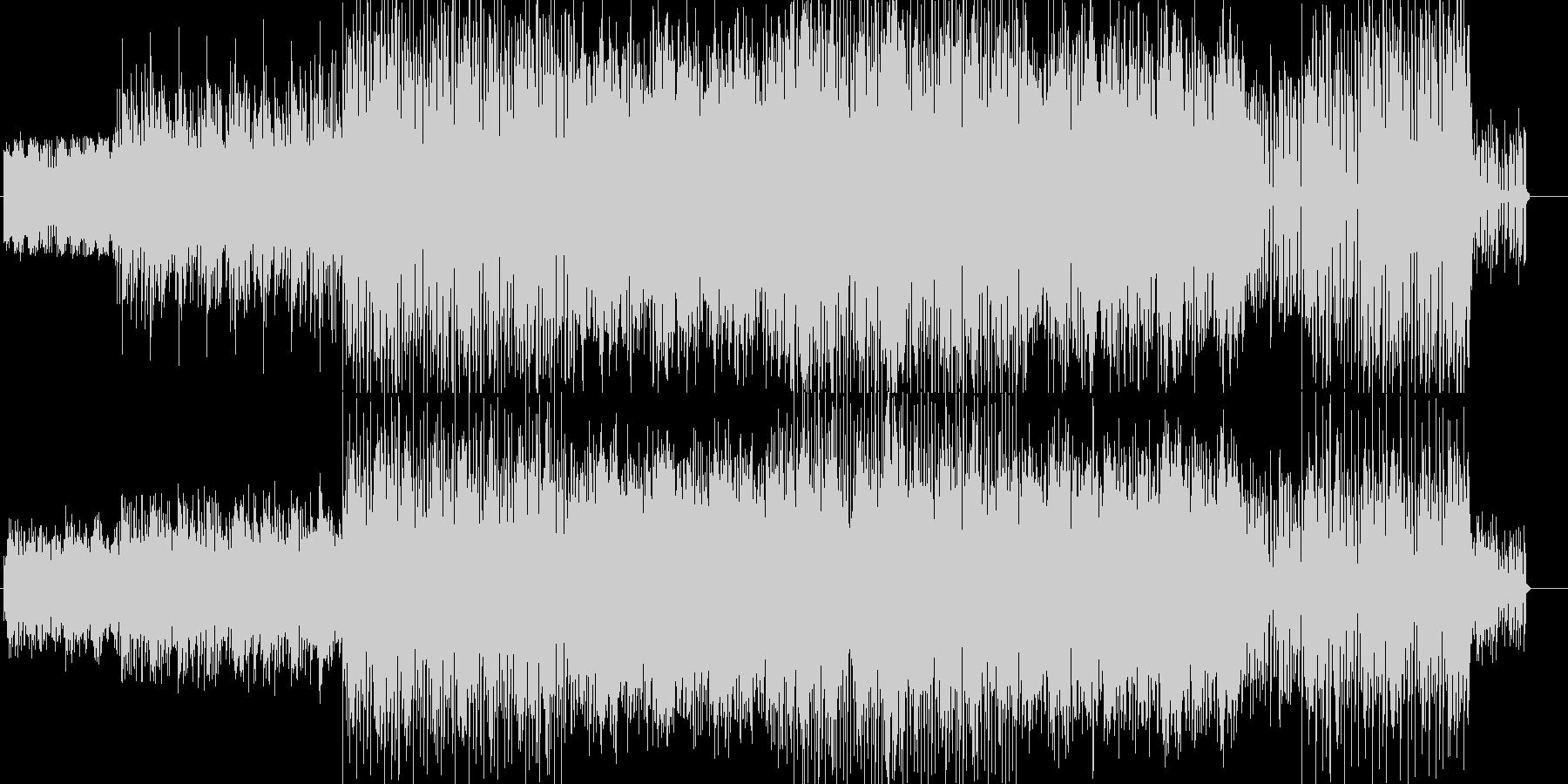 明るくコミカルなポップスの未再生の波形
