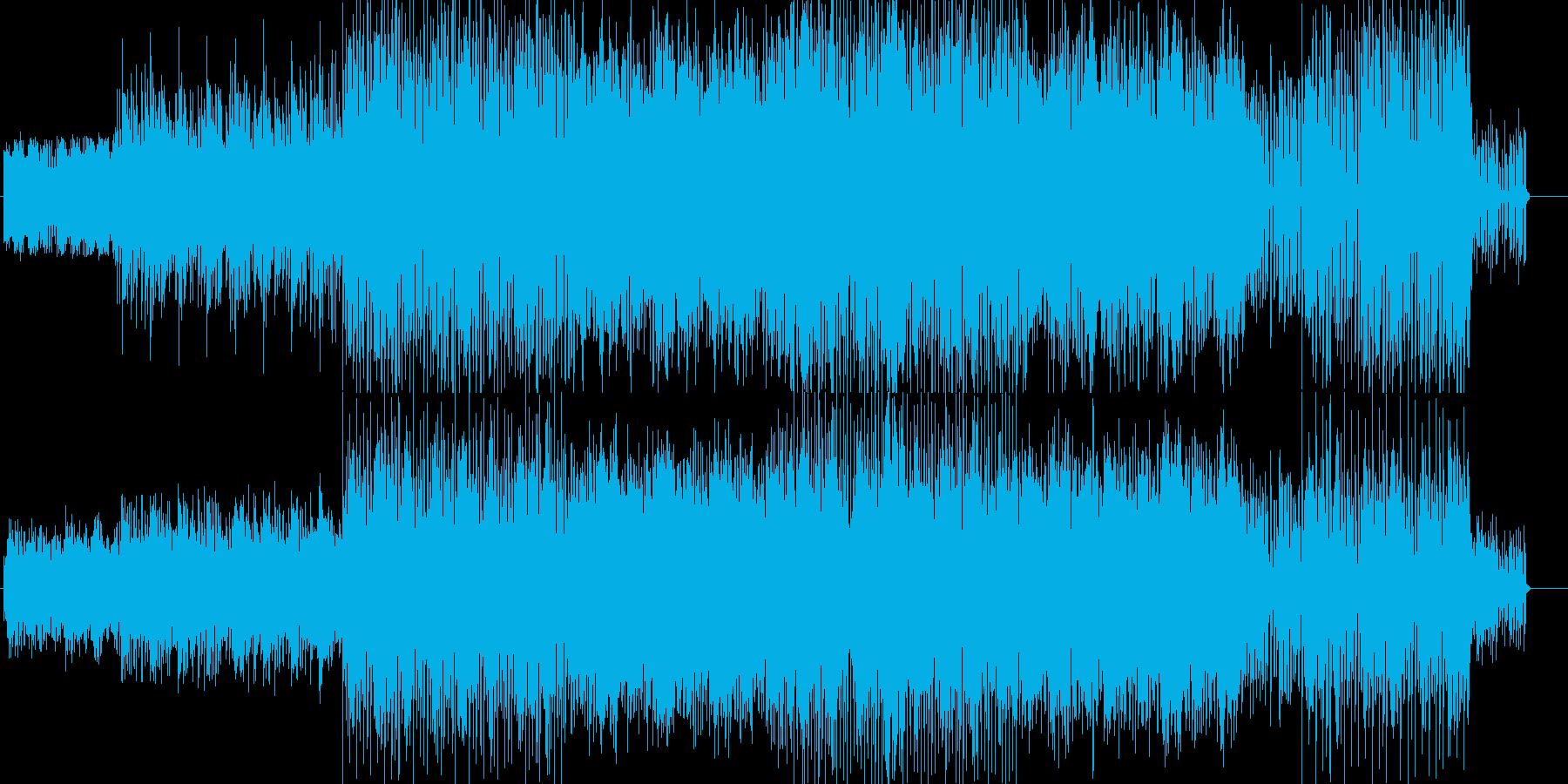 明るくコミカルなポップスの再生済みの波形