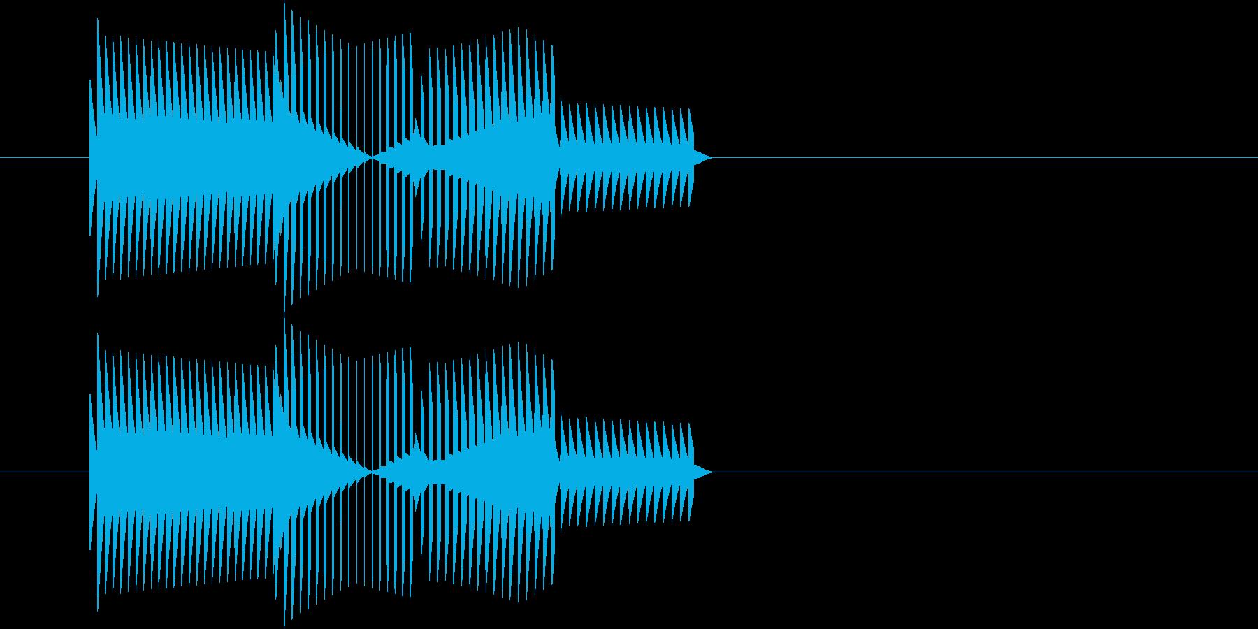RPGゲーム・攻撃・ミス・空振り・極低音の再生済みの波形