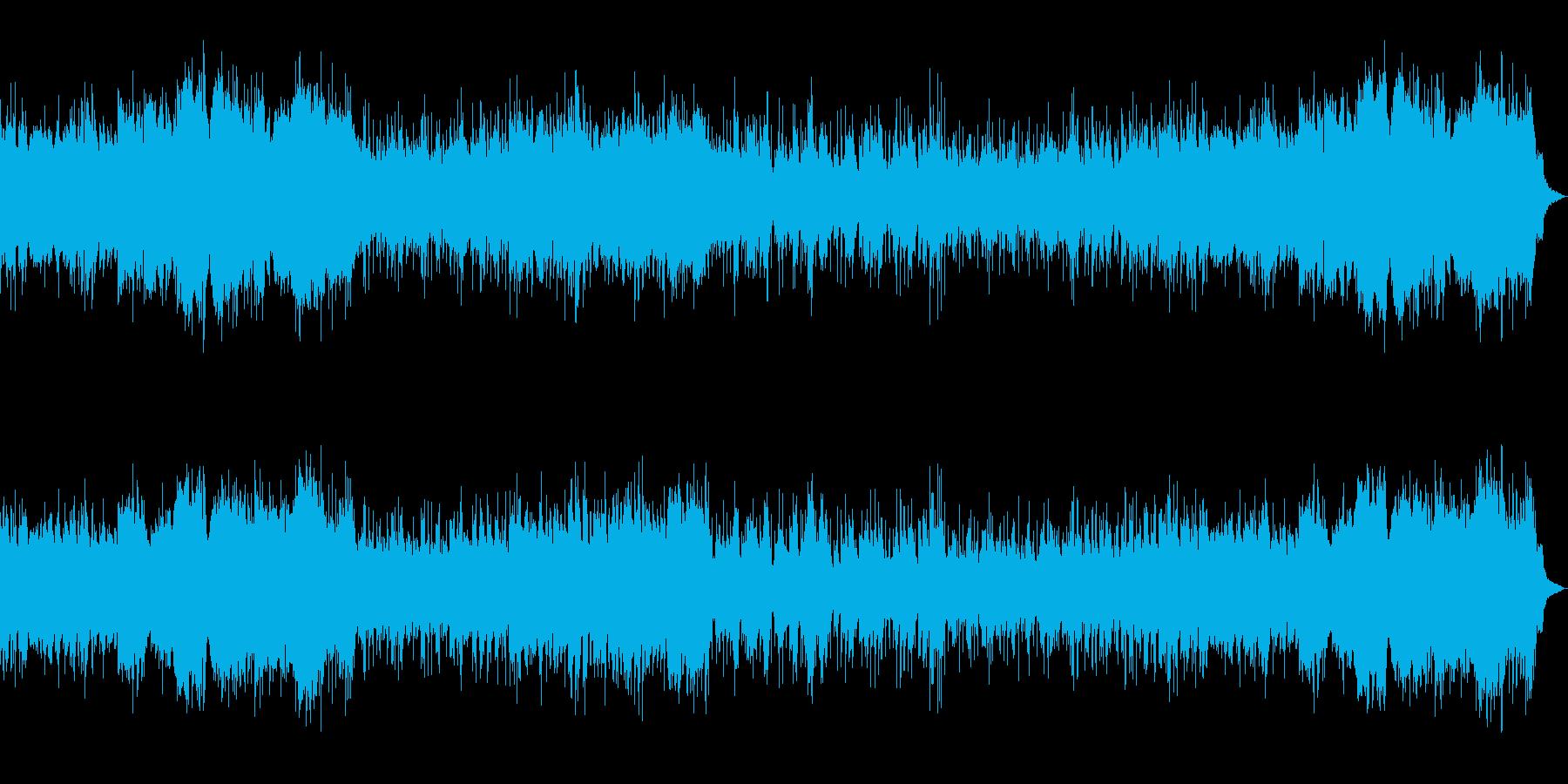 ダーク、ホラーな背景 ドラム入りBGMの再生済みの波形