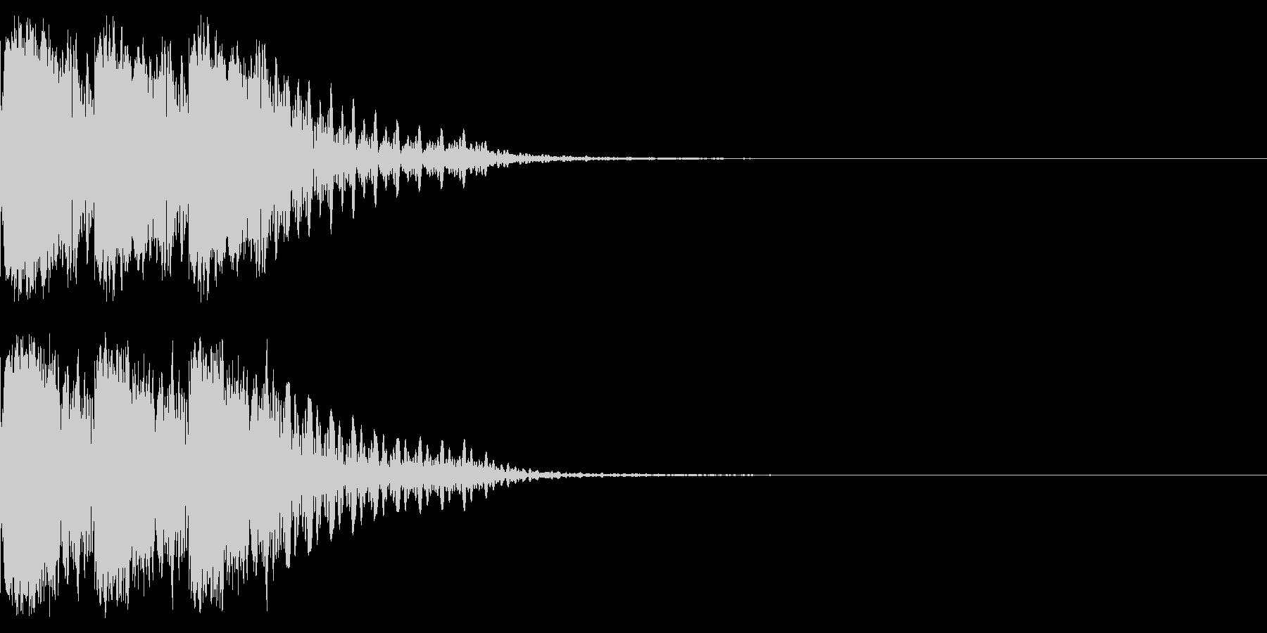 キュインキュインキュイーン!パチンコの音の未再生の波形