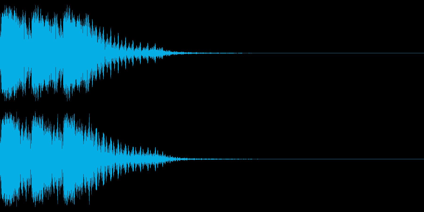 キュインキュインキュイーン!パチンコの音の再生済みの波形