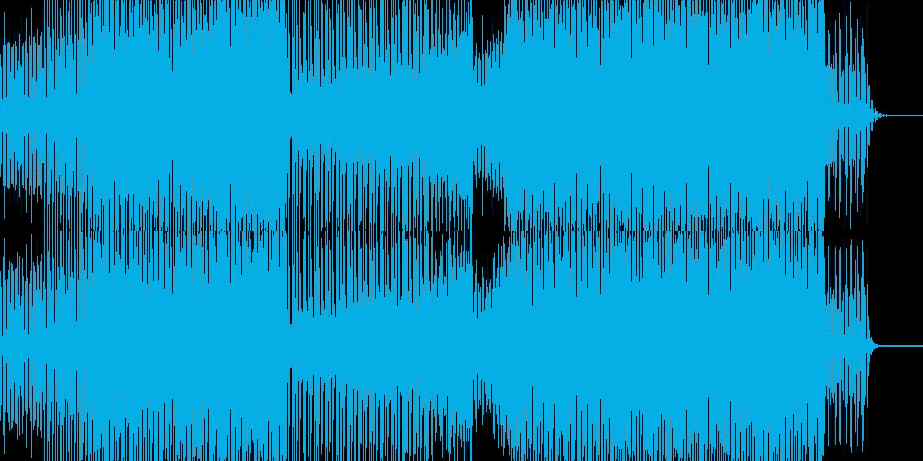 フィールド探索系4つ打ちミュージックの再生済みの波形