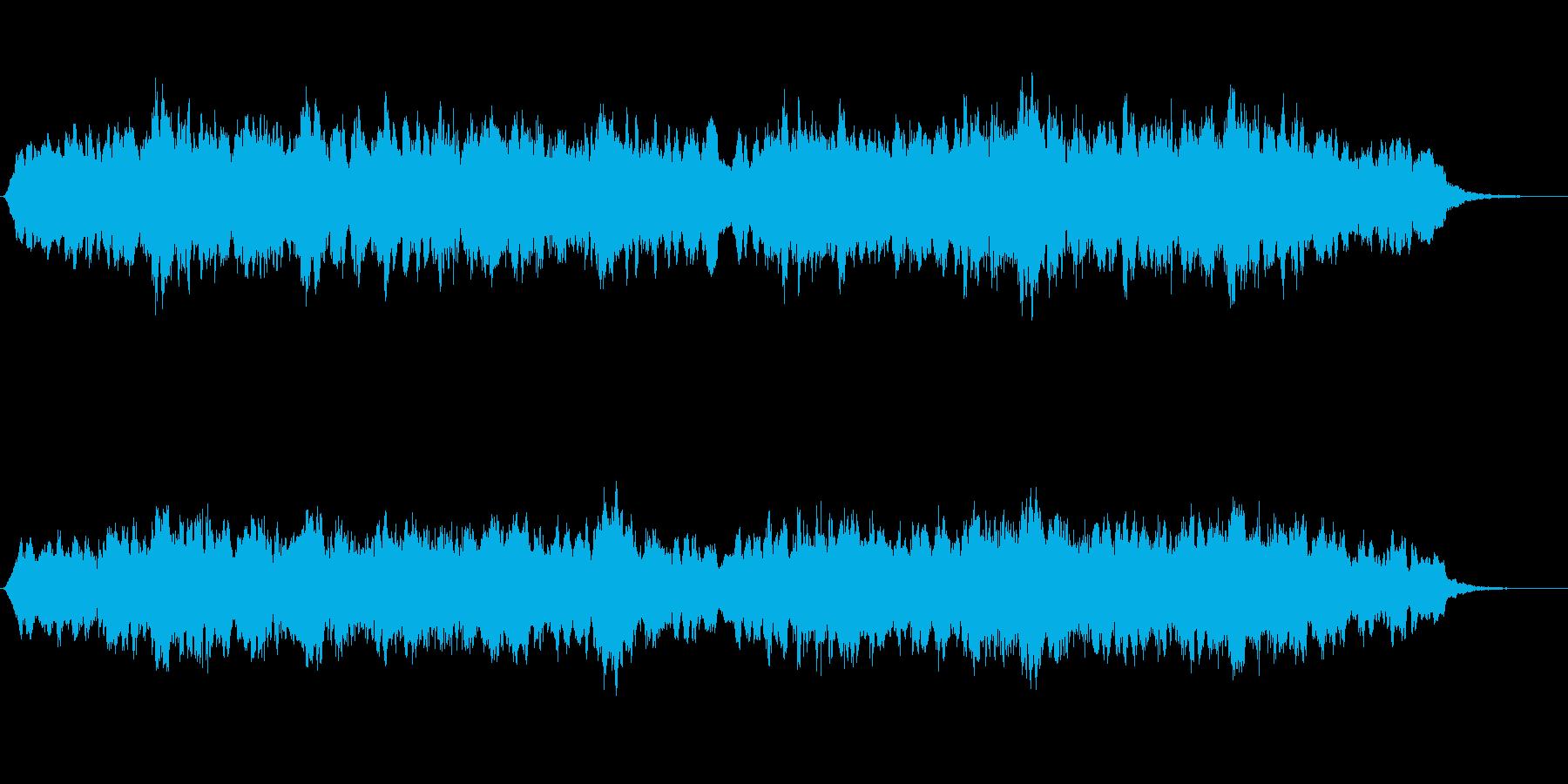 暗い雰囲気のアンビエントなジングルの再生済みの波形