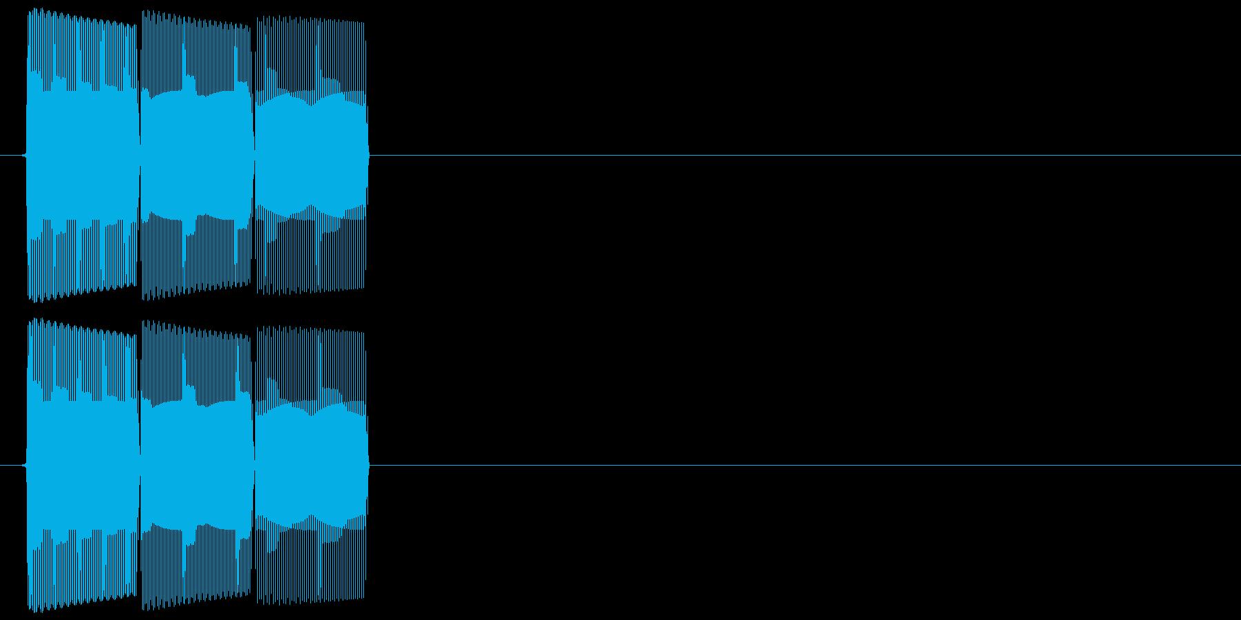 テロリン(ダウン音)の再生済みの波形