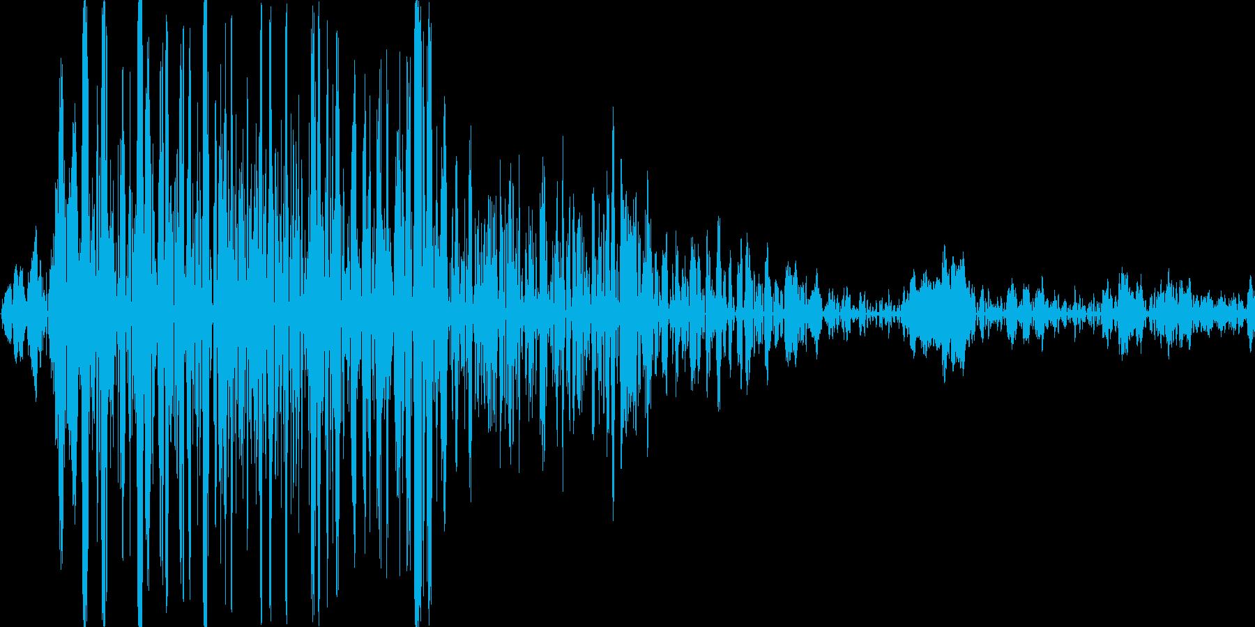 軽めの足音の再生済みの波形