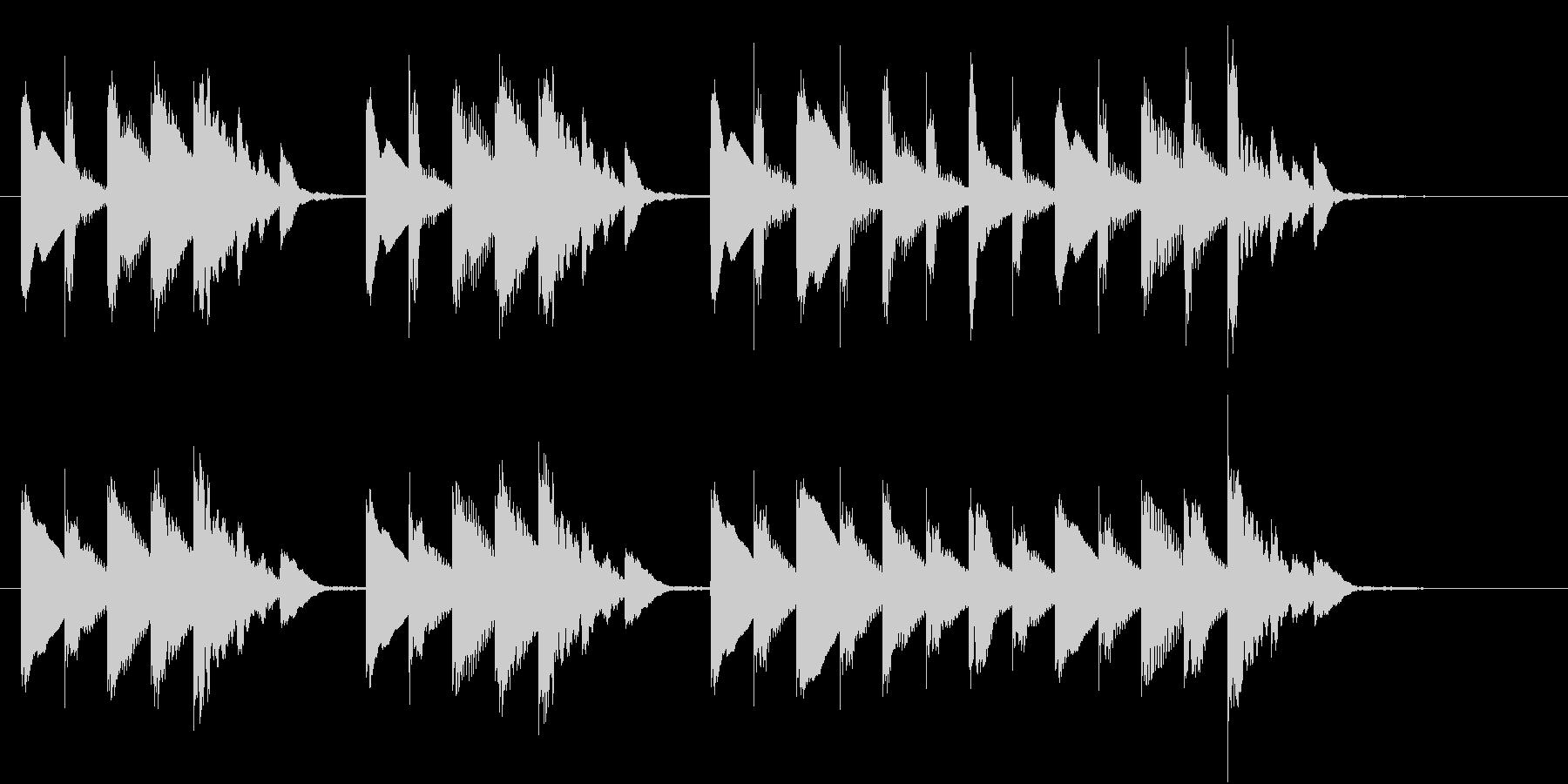 ほのぼのとしたシンプルなジングルの未再生の波形