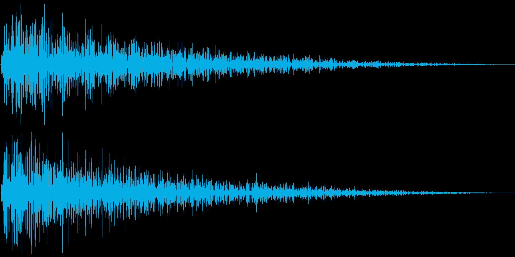 ズーン (ショック、衝撃を受ける) ①の再生済みの波形