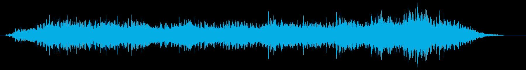 宇宙での交信を表現したアンビエントの再生済みの波形