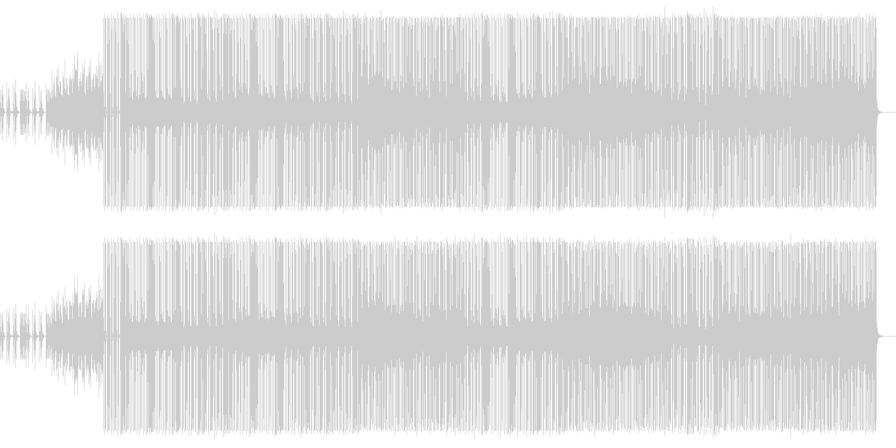 金属系音色・Hip-Hop Beatの未再生の波形