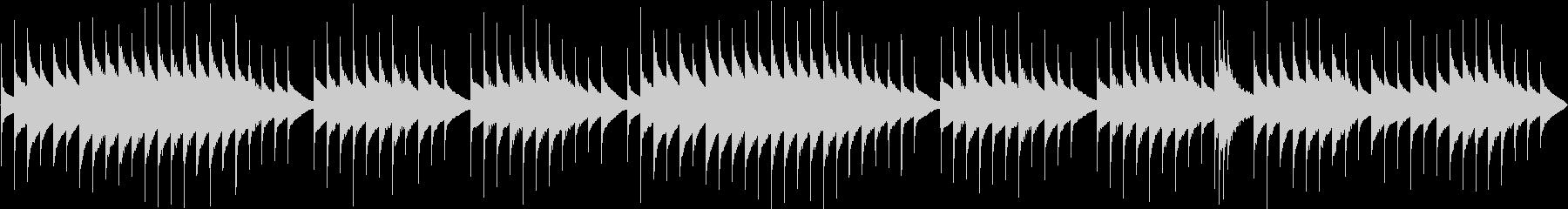 ほんわかとしたオルゴール曲(ループ用)の未再生の波形