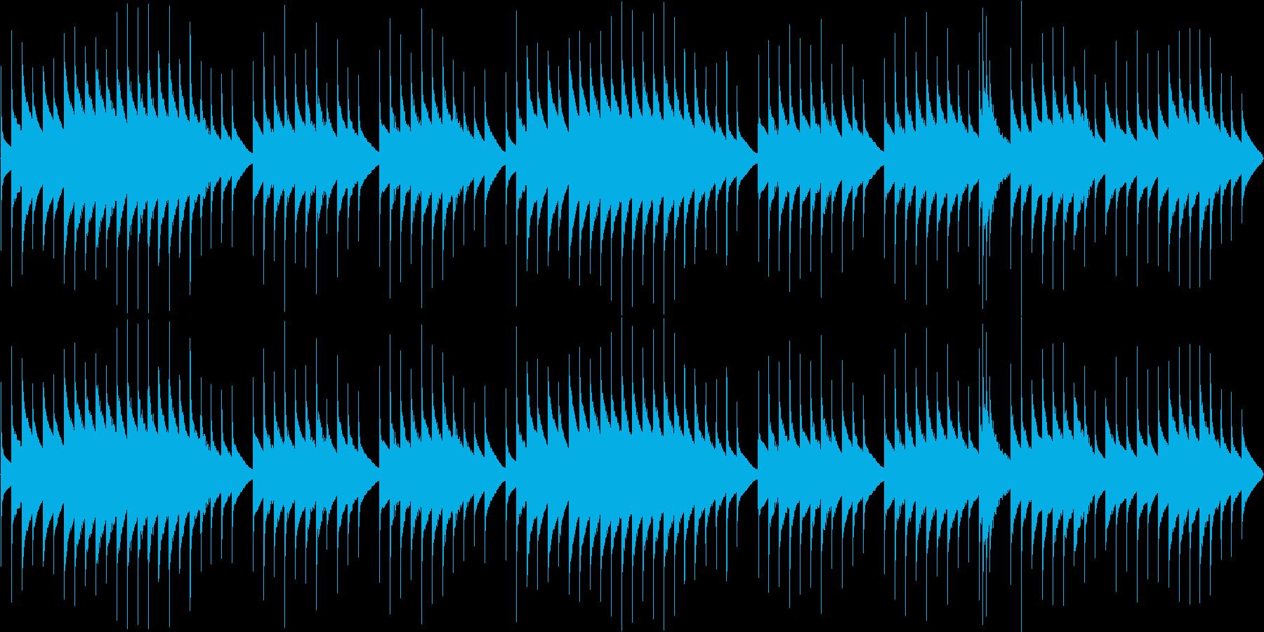 ほんわかとしたオルゴール曲(ループ用)の再生済みの波形