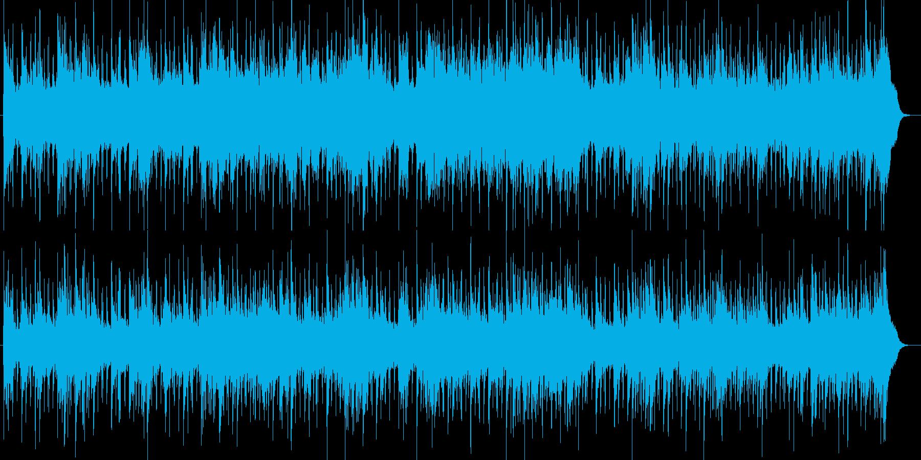 軽快で爽やかなアンビエントBGMの再生済みの波形