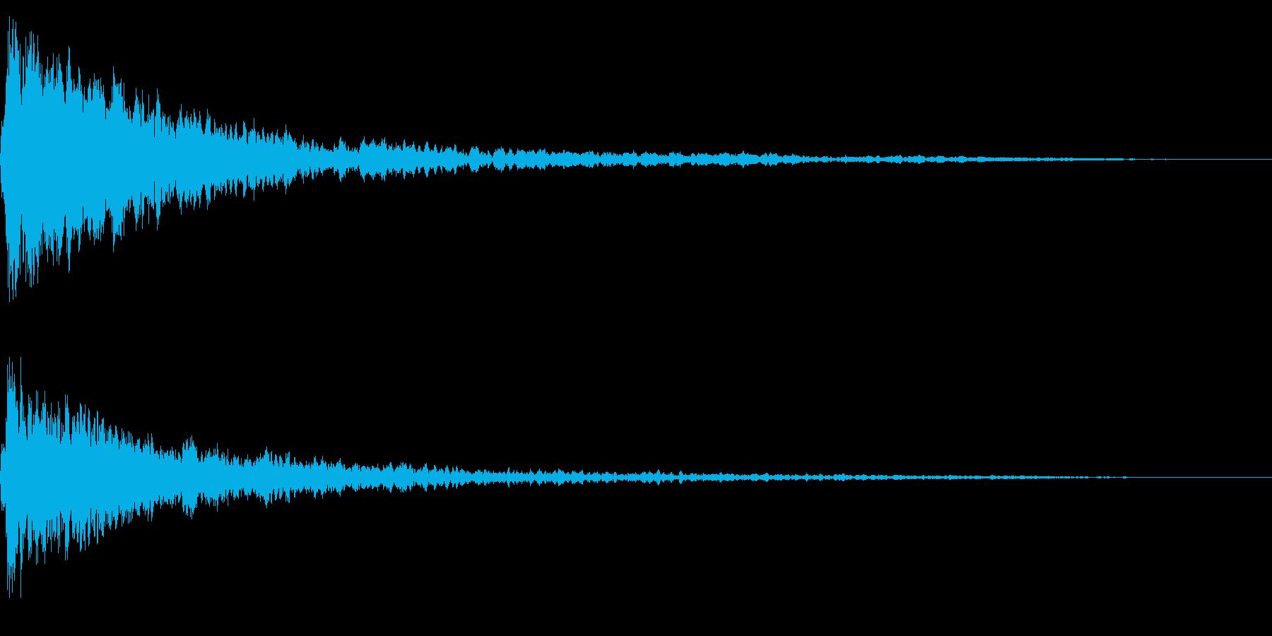 ホラー系アタック音48の再生済みの波形